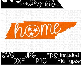 Tennessee Home SVG File, Tennessee, State Home, Tennessee Home, Cutting File, Silhouette, Cricut, PNG, DXF