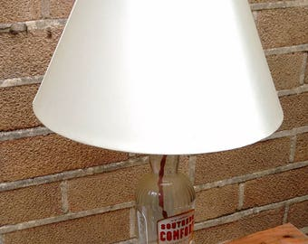 Upcycled Southern Comfort Table Lamp, re purposed bottle lamp