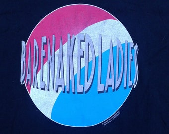 "1992 True Vintage Barenaked Ladies ""Gordon"" Album t-shirt Made in Canada by Fruit of the Loom XL"
