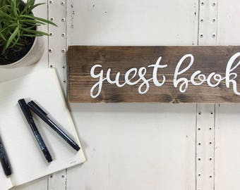 Guestbook Signs // Wedding Table Signs // Wedding Photo Prop // Rustic Wedding Decor // Guestbook Table Signs