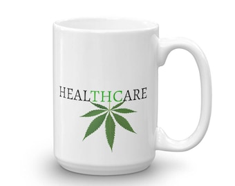 Medical MJ Mug, 420 Coffee Cup, Medical Cannabis, Cannabis, Stoner Gifts, Legalize It, Pot Smoker, cannabis accessories,  Cannabis Art, Weed