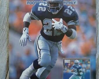 Emmitt Smith 1991 Beckett - Dallas Cowboys gift - Emmitt Smith gift - 1991 - Dallas Cowboys, Man can decor, Cowboys football, Texas football