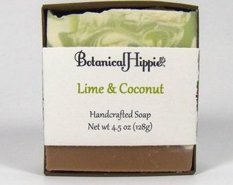 Lime & Coconut, Handmade Bar Soap