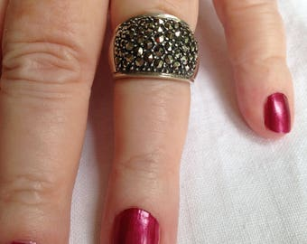 Sterling Marcasite Band or Ring