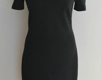 Vintage 90s LBD black bodycon dress Medium