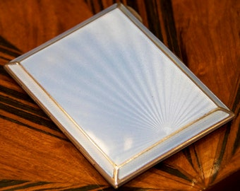 Mappin & Webb Solid Silver and Enamel Cigarette Case