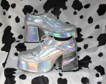 Genuine 1970's Holographic Disco Shoes