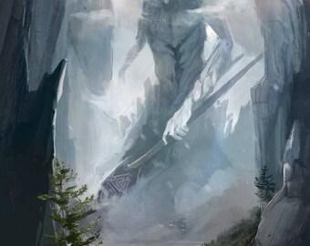 Odin Print | Art Print | Giant | Viking art Norse Mythology Asgard