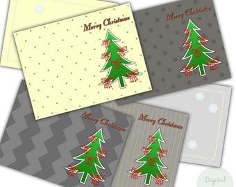 Digital Christmas cards for printing, Greeting Cards Merry Christmas, Instant download Christmas card, Merry Christmas card, Postcards