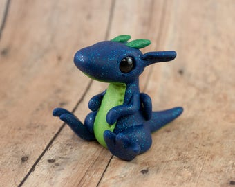 Baby Dragon Sculpture, Clay Dragon Figurine, Polymer Clay Dragon Figure, Polymer Clay Dragon, Dragon Hatchling, Dragon Figurine