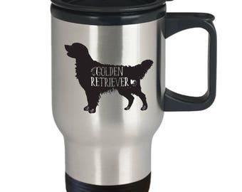 Golden Retriever Travel Mug, Retriever Coffee Cup, I Love My Golden Retriever