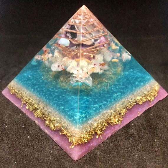 Water Element Orgonite Pyramid