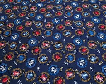 One Nation-Blue USA Cotton Fabric from P&B Textiles