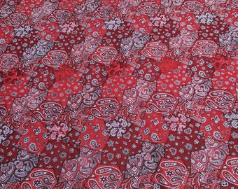 Rodeo Roundup-Red Bandanna Cotton Fabric from Northcott Studios