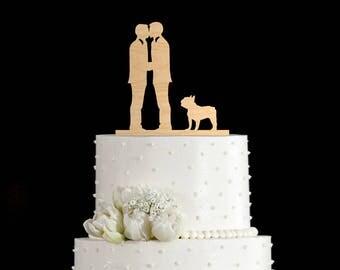 Gay wedding cake toppers dog,gay wedding cake toppers french bulldog,gay wedding topper french bulldog,gay cake topper french bulldog,68217