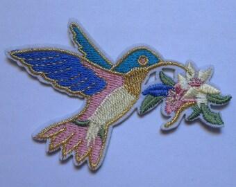 Bird Iron on Applique, Bird Iron on Patch, Nature Iron-on Application