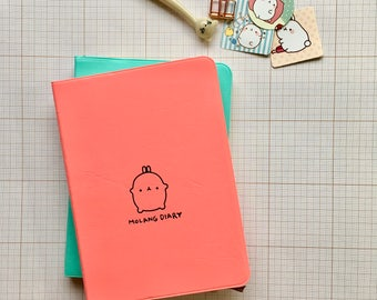 Cute Kawaii Molang Diary 2018 undated Planner Bunny Cartoon Notebook Ready for School UK SELLER Journal Diary Bullet Journal xmas gift