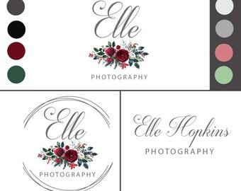 Logos, Logo Branding, Branding Design, Branding Logo, Premade Logo, Floral Logo, Feminine Logo, Custom Branding Design, Custom Logo Design,
