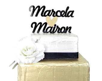Custom Name Cake Topper, Wedding name Cake Topper, Custom Cake Topper, Engagement Cake Topper, Bridal Cake Topper