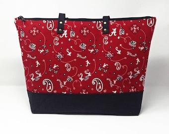 Alabama Diaper Bag, Diaper Bag, Baby Shower Gift, New Baby Gift, Roll Tide, Nappy Bag, Tote Bag, Daddy Diaper Bag, Baby Bag, Shoulder Bag