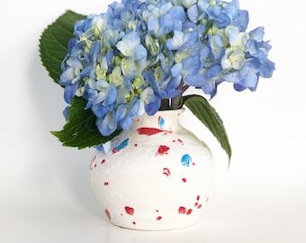 Mini Vase in Red White and Blue