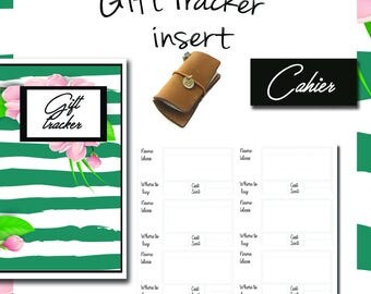 Cahier Gift Tracker, Cahier Insert, Cahier Notebook, Cahier Fauxdori