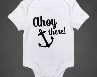 Ahoy There Onesie, coming home outfit, newborn bodysuit