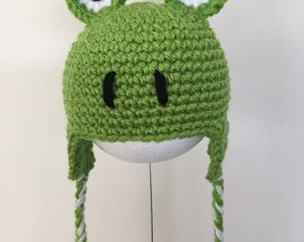 Crochet frog hat for cat/small dog handmade super cute
