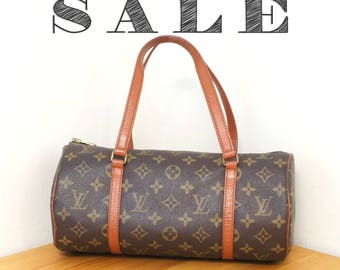 Louis Vuitton Monogram Papillon 30 Handbag in Brown 80s Vintage LV Purse Authentic Bag YO3327