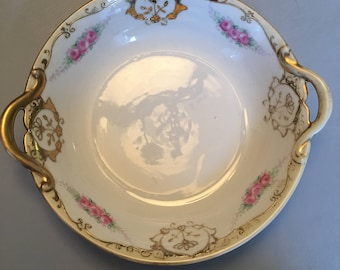 Hand Painted Nippon Handled Bowl