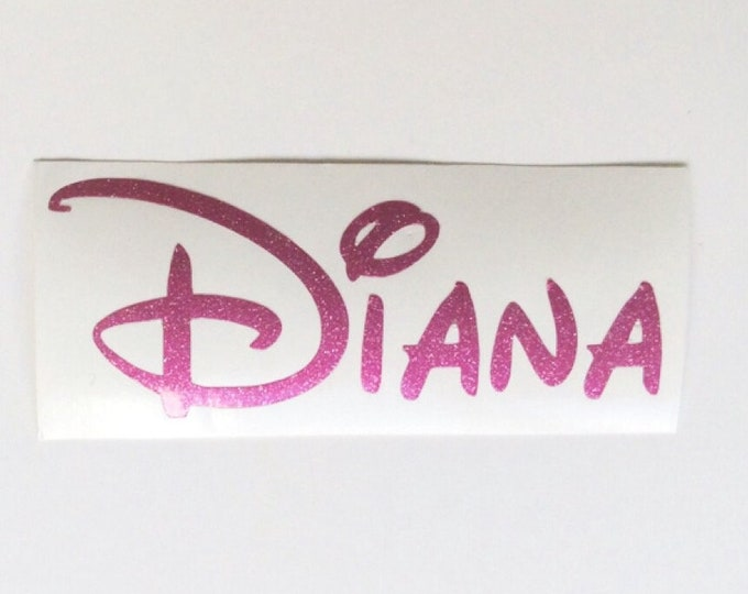 Featured listing image: Personalised Name Vinyl Decal, Disney Name Sticker