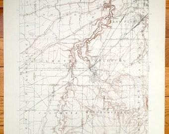 Antique Ohio Map Etsy - Ohio on a us map