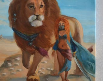 Oil painting Lion