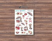 Raindrops & Roses Deco Stickers | ECLP | Happy Planner | Recollections Planner