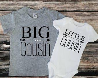 Big Cousin Little Cousin Shirt Set, Cousin Shirts, Cousin Best Friends