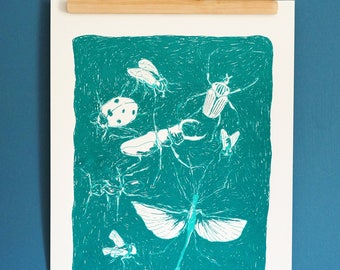Screen bugs 35 x 50 print numbered and signed