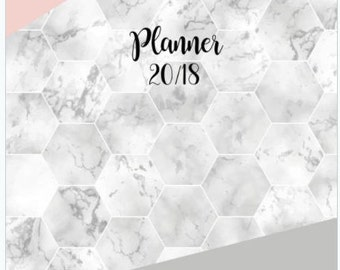 2018 planner, Monthly planner, weekly planner,