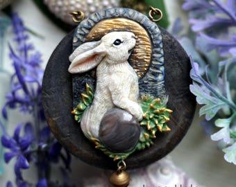 Rabbit Necklace, Bunny Pendant, Rabbit Pendant, Bunny Necklace