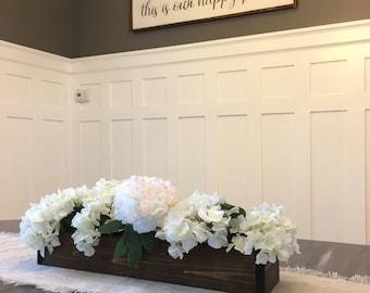 Table Center Piece, Planter Box, Mason Jar Decor, Thanksgiving Decor, Christmas Decor, Farmhouse Decor, Reclaimed Wood, Rustic Table Decor
