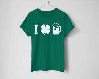 I Love Beer Shirt - St Patrick's Day Shirt - St Patty's Shirt - Shamrock Shirt - Irish Shirt - Day Drinking Shirt - Beer Shirt