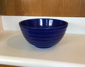 Bauer Ringed Mixing Bowl in Royal Blue