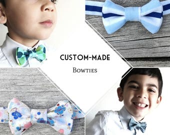 Custom-made boys bowtie, Fall/Winter Collection, choose your color/design, made-to-order