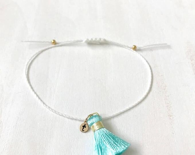 Personalized Tassel Bracelet for Her, Tassel Gift for Wife, Sister Boho Gift, Tassel Gift Bracelet, Christmas gifts 2018
