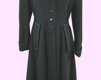 Moda international extra long black wool coat