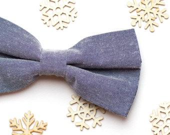 Mens Bow Tie Blue Cotton Bow tie Mens gift Christmas gift Birthday gift Wedding gift Bow Tie for men Something Blue Wedding outfit