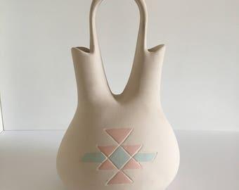Large Native American Wedding Vase- Vintage Southwestern Pottery