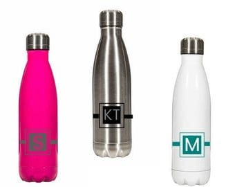 Stainless Steel Water Bottle with Initials