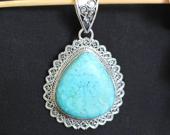Turquoise Gemstone Pendant!