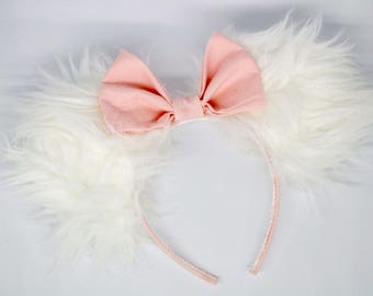 Marie mouse ears, aristocats mouse ears, aristocrats ears, disney ears, mouse ears, minnie mouse ears, fur mouse ears, cat mouse ears