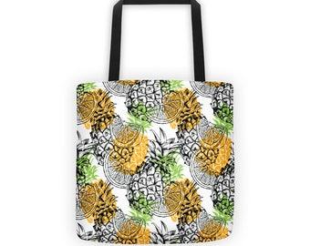 Pineapples and Oranges Tote Bag